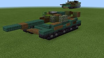 1.5:1 scale T-62 version 2 Minecraft Map & Project