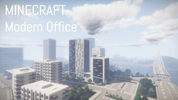 Modern Office Building 7 (full interior) Minecraft Map & Project