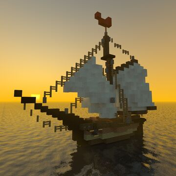 Wooden Sail Yacht Minecraft Map & Project