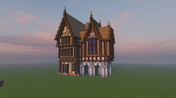 Medieval house [Tutorial + Download] Minecraft Map & Project