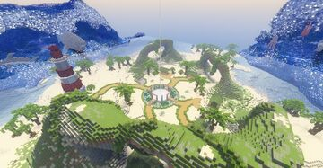 Paradise Ocean Spawn Minecraft Map & Project