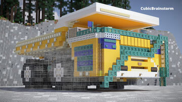 Belaz 75710 in Scale 2:1 Minecraft Map & Project