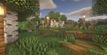 Cottage Core Small Town Minecraft Map & Project