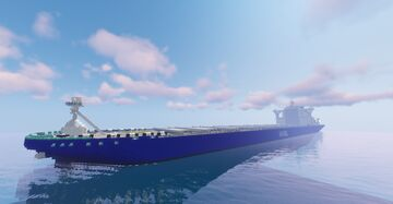 Heavy Sky Ore Carrier, cargo ship. Minecraft Map & Project