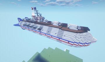 Movecraft Air Battleship - MN Bourgogne | Alsace-class Super Battleship Minecraft Map & Project