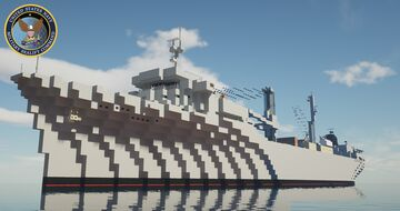 USNS Del Monte T-AK-5049 [1:1] Minecraft Map & Project