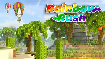 Rainbow Rush - Race for the Wool - Bedrock Version Minecraft Map & Project