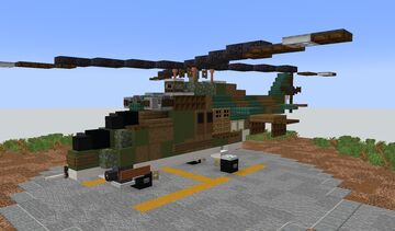 Mil mi-24 (Hind) - Soviet Attack Helicopter Minecraft Map & Project
