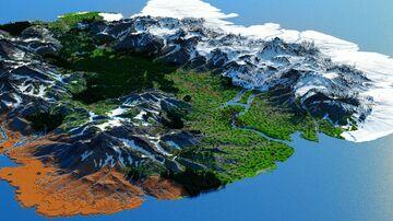Nostrelio - The Red Alpine Valley (4k, Download, 1.12 & 1.16+, Java & Bedrock, Realistic Minecraft Survival World ) Minecraft Map & Project