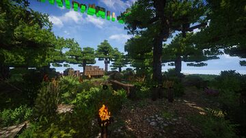 A little forest i made, its build with the conquest reforged mod and texture pack Minecraft Map & Project