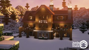 A Snowy Hotel Minecraft Map & Project