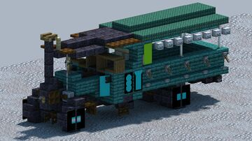 Foden steam truck, [With Download] Minecraft Map & Project