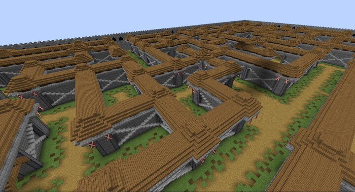 Maze overview. You start on the lower path.