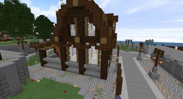 Medieval Fantasy  blacksmith's shop / Forge médiéval fantasy Minecraft Map & Project