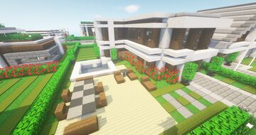 Modern NLC Cubus House #13 - NewLycantropiaCity build by ArcturusPhoenix Minecraft Map & Project