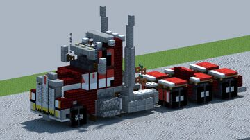 Kenworth W990, Triaxle Truck [With Download] Minecraft Map & Project