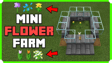 How To Build A Mini Auto Flower Farm Minecraft Map & Project