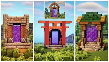 4 Simple Nether Portal Designs Minecraft Map & Project