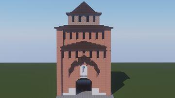 Пятницкие Ворота Коломенского Кремля. / Pyatnitsky Gate of the Kolomna Kremlin. Minecraft Map & Project