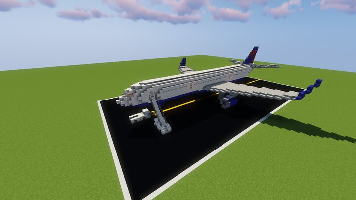 757 Landed but with pushback tug and stair car stair car comes with 737