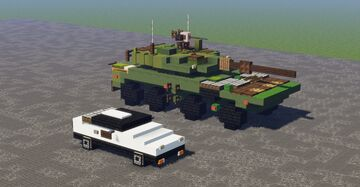 Type-16 Manuver Combat Vehicle 2:1 scale (ae86 trueno as refrence) Minecraft Map & Project