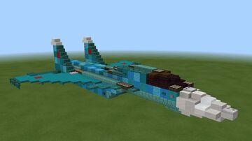 Sukhoi SU-34 Fullback Minecraft Map & Project