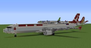 Cathay Dragon Airbus A321-231 Minecraft Map & Project