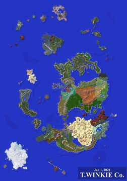 """Massive ~15k by ~21.5k Survival Map """"Sekai"""" Minecraft Map & Project"""