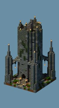 One Chunk Overworld Tower Minecraft Map & Project
