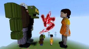Squid Game Doll vs Zomboss Minecraft Minecraft Map & Project