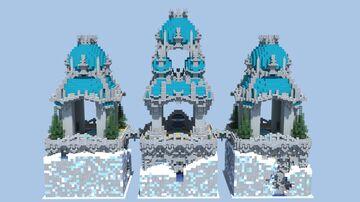 Il Tempio Ciano - 32x32 Plot Creative Spawn Minecraft Map & Project