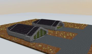 Jet-Fighter Shelter / Hangar- two versions Minecraft Map & Project