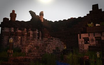 [1.14.3] Raven's Cliffs Medieval Town - Middle District #weareconquest Minecraft Map & Project