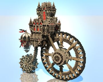 The Necropolis - Steampunk Mortal Engines Design Minecraft Map & Project