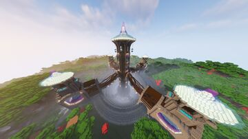 Dark Water Fall Tower Minecraft Map & Project