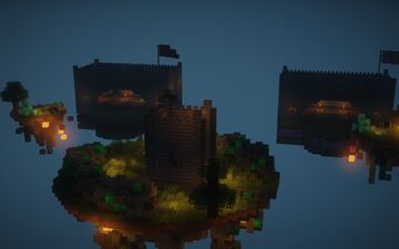 Night castles - Bedwars map + FREE DOWNLOAD Minecraft Map & Project