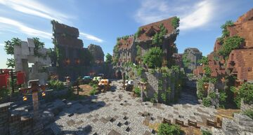 Fantasy Map - A City In The Mountains Minecraft Map & Project