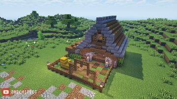 Medieval Animal Barn Minecraft Map & Project