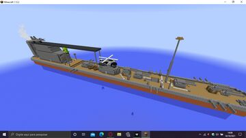 Delti Gulf (RF-3) Airplane Carrier Minecraft Map & Project
