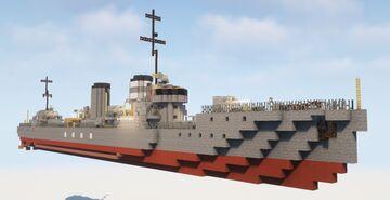 1:1 Scale Kamikaze Class Destroyer IJN Harukaze Minecraft Map & Project