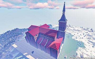 Minecraft replica of the Church of Our Lady of Asunción, Campo de Criptana, Spain. Minecraft Map & Project