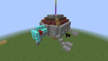 Spaceship Rainbow Minecraft Map & Project