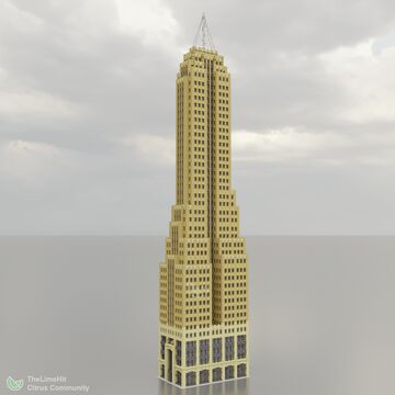 Irving Telephone Company Tower - 1.5:1 Scale Realistic Art Deco Skyscraper Minecraft Map & Project