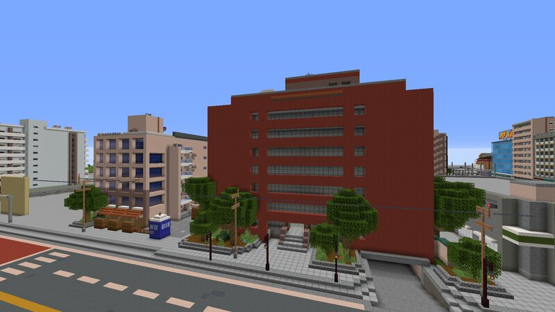 Some buildings modeled directly for those surrounding to the real tower.