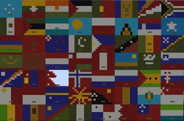 All flag(Alphabetical order) ! With historical and un-reconized flags(23.000blocks,18 hours of labours, 2languages) Minecraft Map & Project