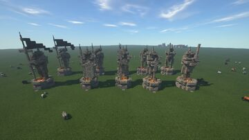 Knight Stone Statue Minecraft Map & Project