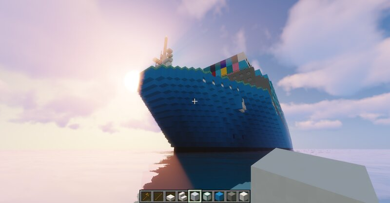 The Bow of the Laden ship
