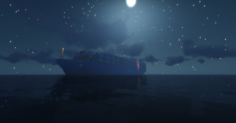 The Ocean Mover on a night approach