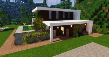 A modern but cosy house Minecraft Map & Project