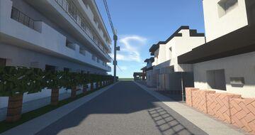 Minimalist small street of Japan #2, Morioka, Iwate prefecture Minecraft Map & Project